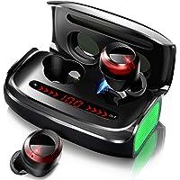 【最新Bluetooth5.1技術 Qualcomm® aptX™】 Bluetooth イヤホン Hi-Fi 高音質 完全 ワイヤレス イヤホン 自動ペアリング イヤホン本体で12時間音楽再生 3000mAh充電ケース付き LEDディスプレイ電量表示 ブルートゥース イヤホン 左右分離型 IPX7防水 CVC8.0ノイズキャンセリング AAC対応 PSE&技適認証済み (ブラック)