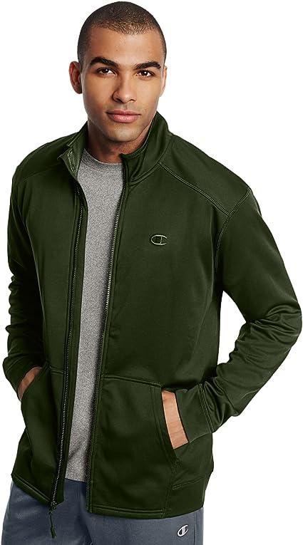 Champion Men Fleece Jacket Full Zip Performance Colorblock Lightweight w pockets