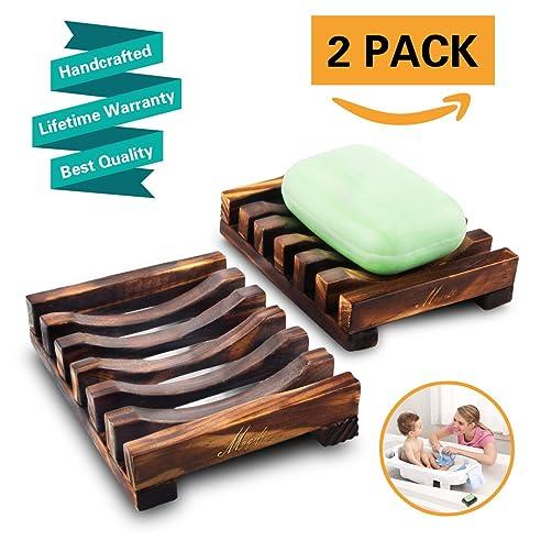 2pcs seifenschale holz dusche bambus seifen form halter bad waschbecken deck seifenhalterung natrliche seifenkiste - Duschen Im Garten Mit Seife