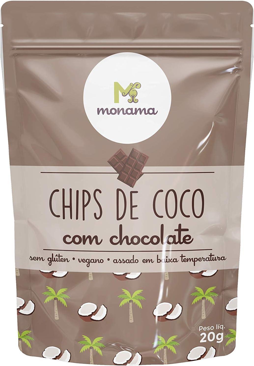 Chips de Coco com Chocolate Monama 20g