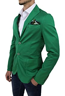 Giacca uomo Alessandro Gilles sartoriale 100% made in Italy verde casual  blazer 005f6a83546