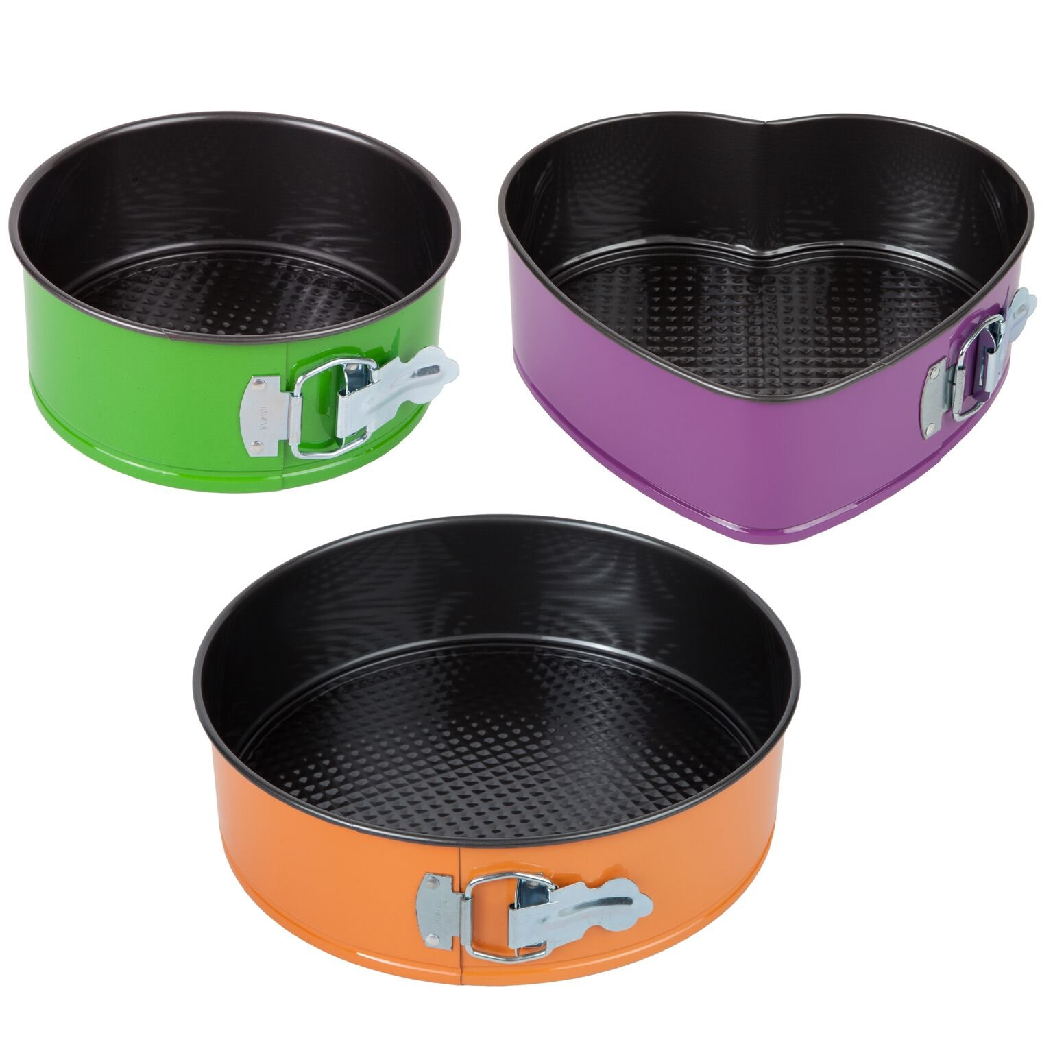 Trenton Gifts Set of 3 Springform Pans with 2 Round and 1 Heart Shaped by TRENTON (Image #1)