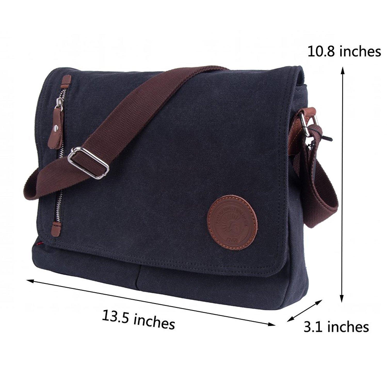 5863b8e44d Amazon.com  Sechunk Canvas Small Messenger Bag Shoulder bag Cross body bag  for men boy student school  Sechunk
