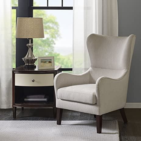 Arianna Swoop Wing Chair Ivory See Below