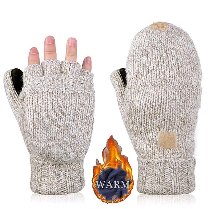 Men\'s Gloves Winter Fingerless Gloves Men Women Fashion General ...