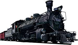 Locomotive Wall Decal Realistic Steam Train Sticker Kids Room Wall Decor VWAQ-PAS14 (8