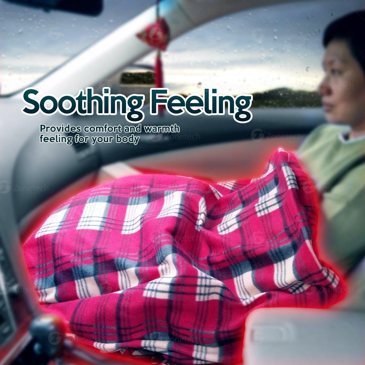 c39e2b1692 ... Travel Blanket – Plaid Premium Quality 12V Automotive Comfortable Heating  Car Seat Blanket Great for Summer. prev X next. prev X next. prev X next