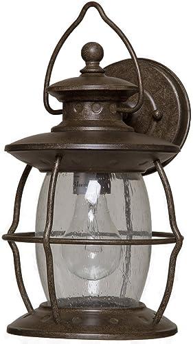 Boston Harbor BRT-CDC16913L 6329759 Dimmable Outdoor Lantern, 1 60 13 W Medium A19 Cfl Lamp, Misty Pewter