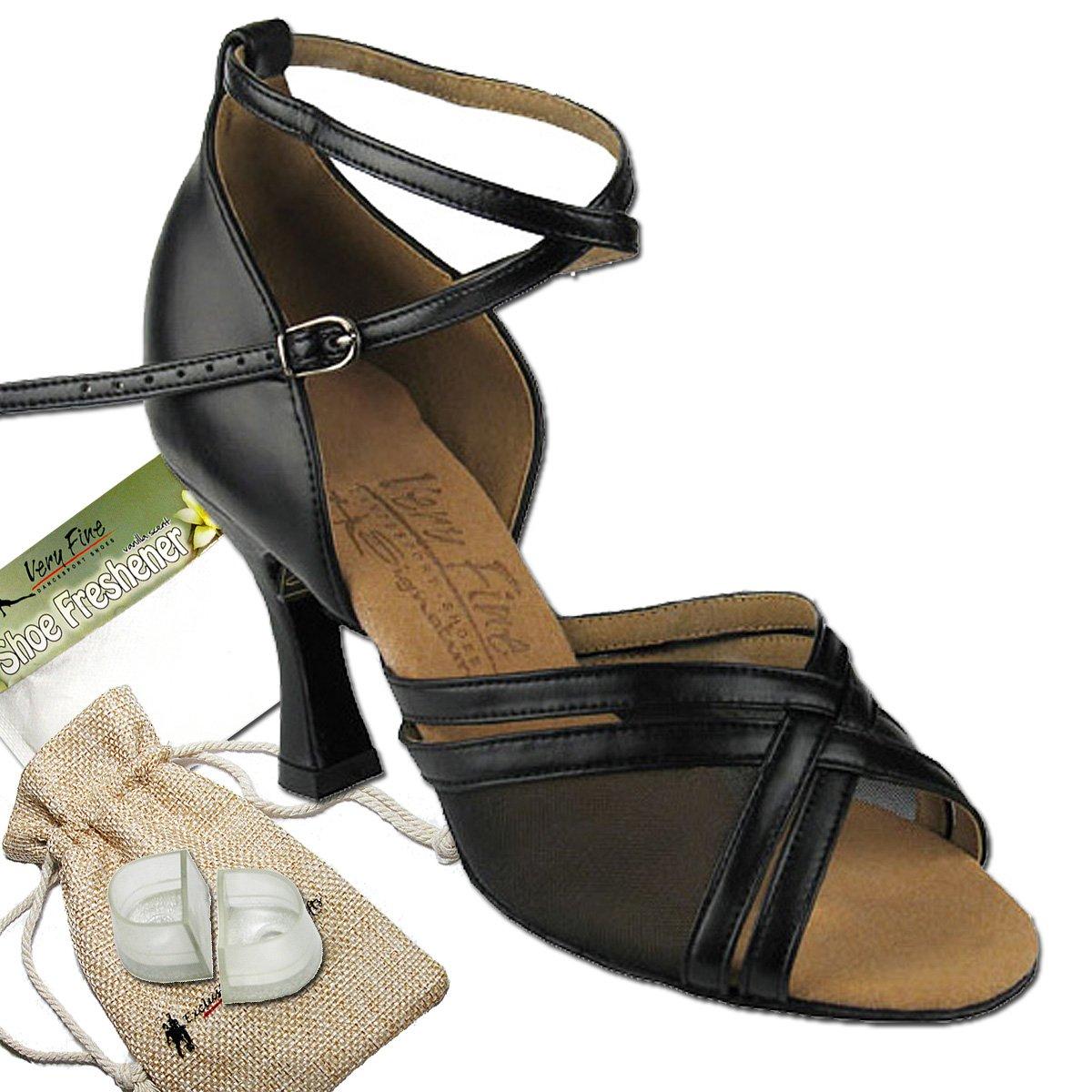 [Very Fine Dance Shoes] レディース B072K9MD1N ブラックレザー 7.5 B(M) US