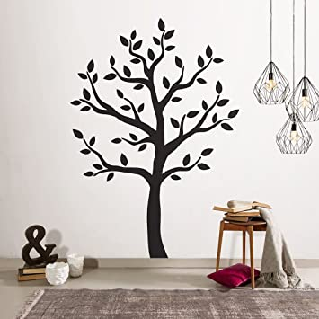Timber Artbox Large Black Tree Wall Decal   The Easy To Apply Yet Amazing  Decoration For