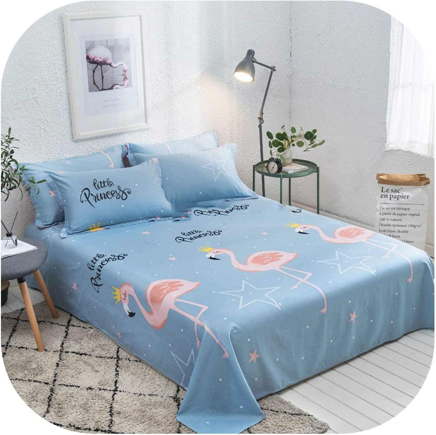 mamamoo Floral Birds Bed Sheet 100/% Cotton Mattress Protector Cover Flat Sheet 1 Piece Soft Bedspread Twin Full Queen Size,Army Green,2pcs Pillow Cases