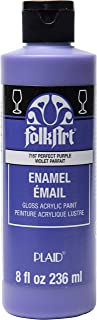 product image for FolkArt Gloss Acrylic Enamel Paint in Assorted Colors, 8 oz, Perfect Purple