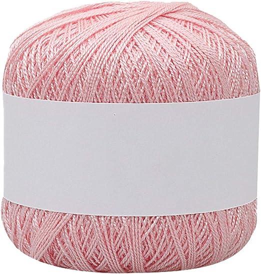 Hilo de lana para tejer de 25 colores, hilo de algodón fino para ...