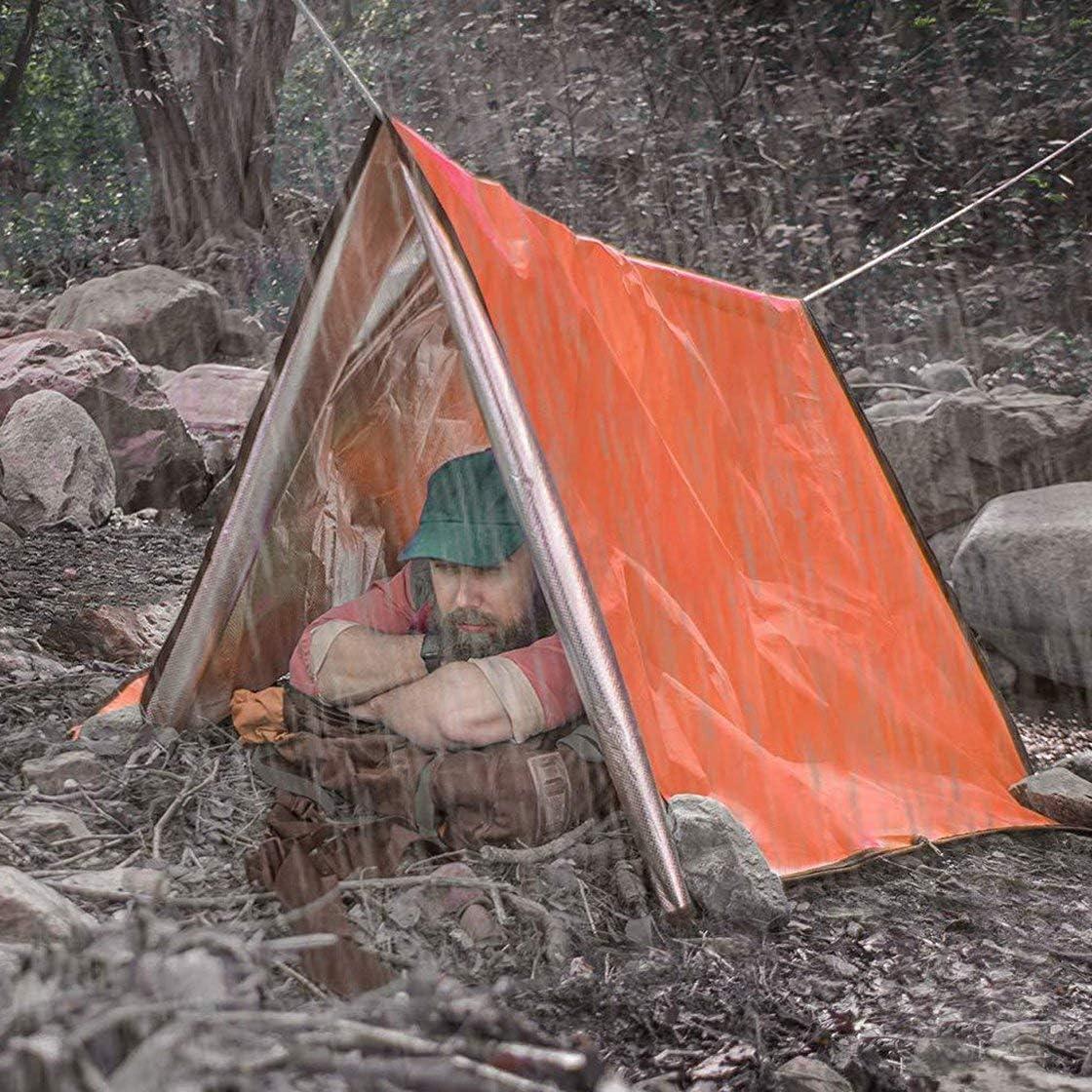 Gwendoll Isolation de Sac de Couchage durgence de Couverture de Secours durgence en Plein air en Plein air r/éfl/échissant Le Film aluminis/é Orange