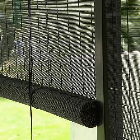 Persiana Estores enrollables Persianas Exteriores Enrollables, Patio/Porche/Gazebo/Pérgola Enrollar Ciego Sun Shade Negro - 60cm / 80cm / 100cm / 120cm / 130cm de Ancho (Size : 120×180cm): Amazon.es: Hogar
