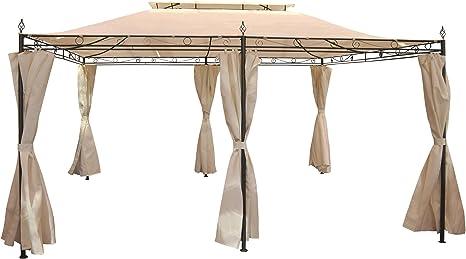 Pergola mecina, Cenador, 4 cm de estructura de acero con aspecto pared, 4 x 3 m