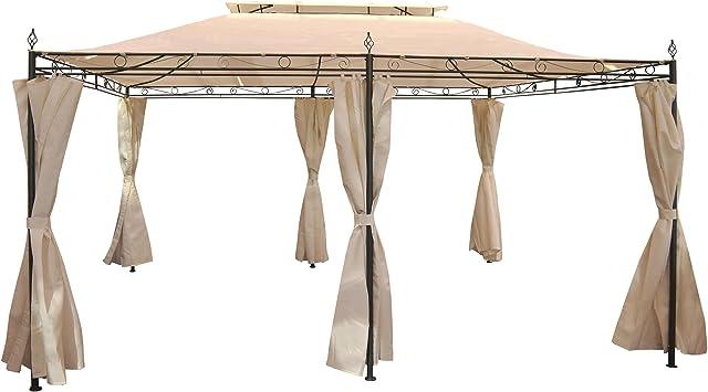 Pergola mecina, Cenador, 4 cm de estructura de acero con aspecto ...