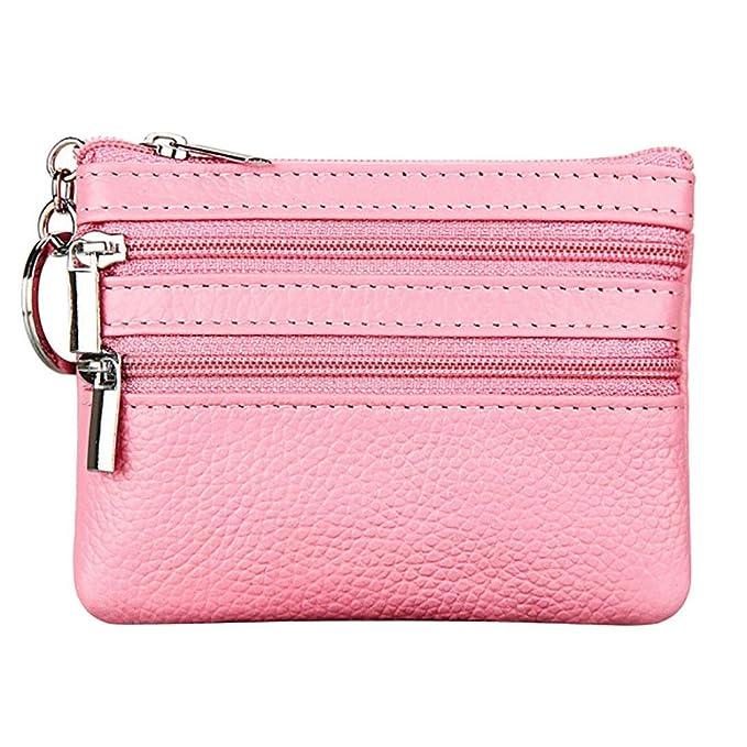 Amazon.com: FimKaul Womens Genuine Leather Coin Purse Mini ...