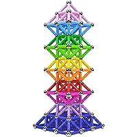 Veatree 160 st magnetiska byggpinnar leksaker, magnetiskt konstruktionsset leksaker och pedagogiskt stapelbara…