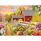 Bits and Pieces 500 Piece Jigsaw Puzzle for Adults - Awaken III - 500 pc Sun Rising Over the Farm Jigsaw by Artist Alan Giana