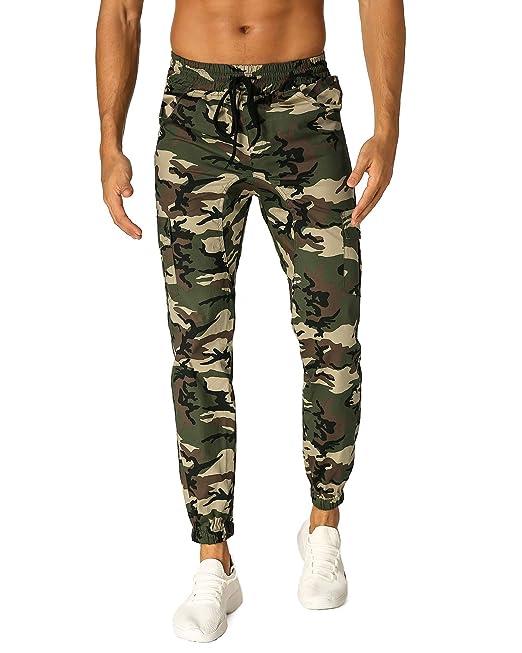MODCHOK Hombre Pantalones Largos Camuflaje Jogger Ch¨¢ndal Pants Algod¨®n Sports?