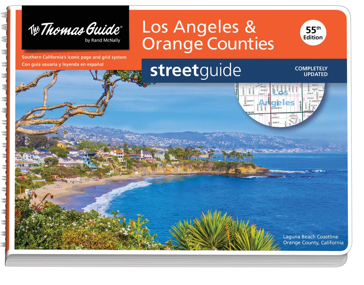 Thomas Guide: Los Angeles and Orange Counties Street Guide 55th Edition (The Thomas Guide Streetguide) by Rand McNally