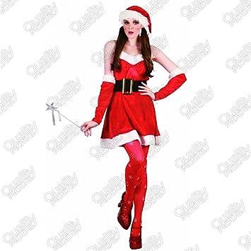 Desconocido Talla de Adulto Disfraz de Papá Noel para Disfraz de ...