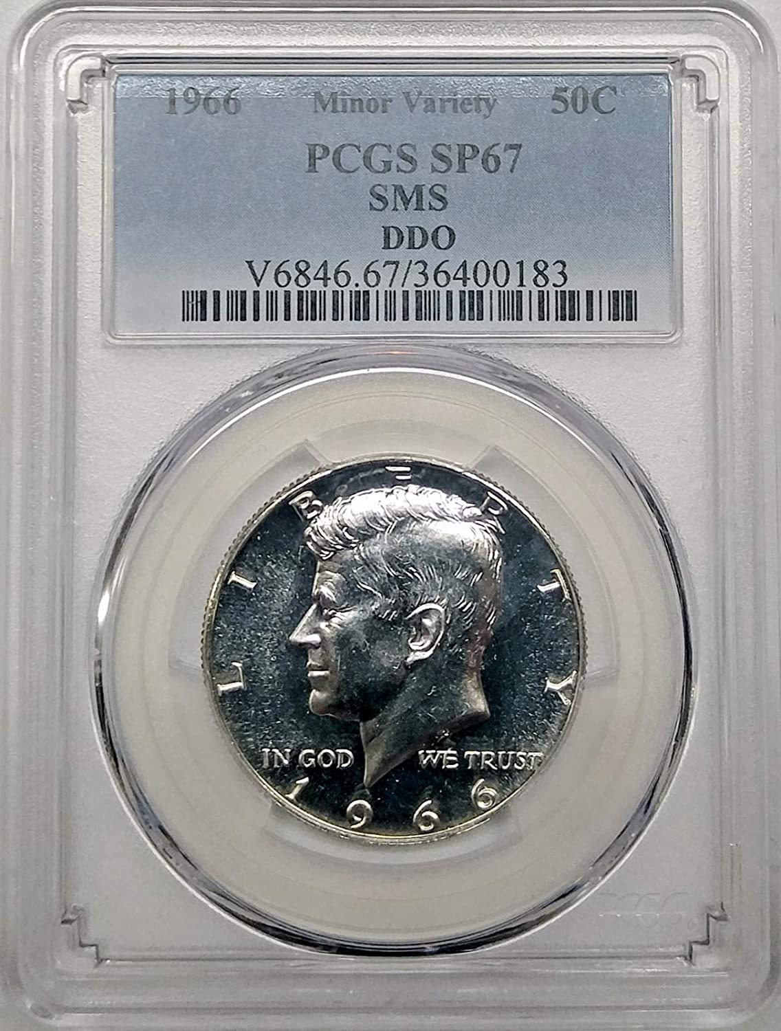 1966-P Kennedy Half Dollar Special Mint Set SMS 40/% Silver Nice No Problem Coin