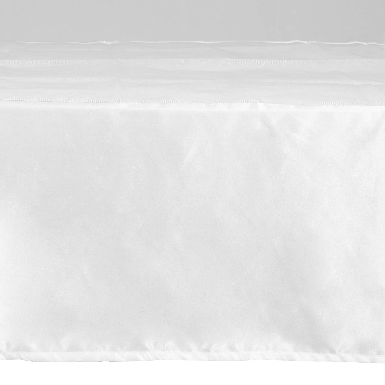 27 X 51 + 13, Purple EHP Solid Satin Crib Skirt Dust Ruffle Nursery Crib Toddler Bedding Skirt with A 13 Drop