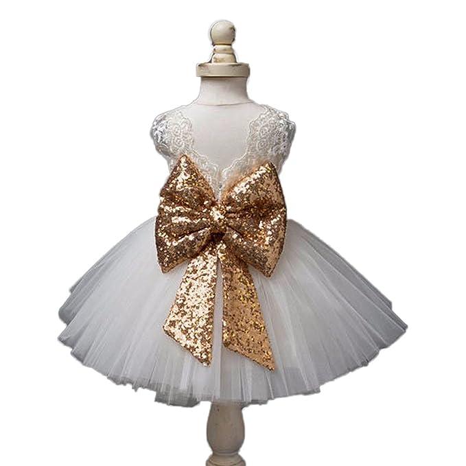 3c5e72fe2b Amazon.com  RMDress Rose Gold Sequins Flower Girl Sash Belt with Big ...