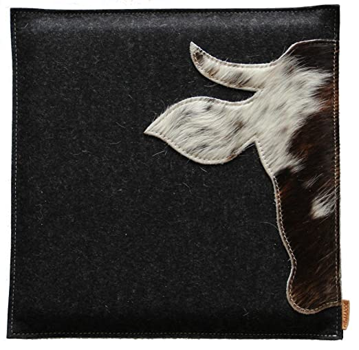 Silla Cojín - Cojín xaverl Fieltro con vaca vaca diseño CA ...