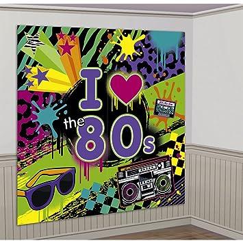 NET TOYS Mural de Pared años 80 de 165 x 165 cm decoración Cuadro Retro Cine