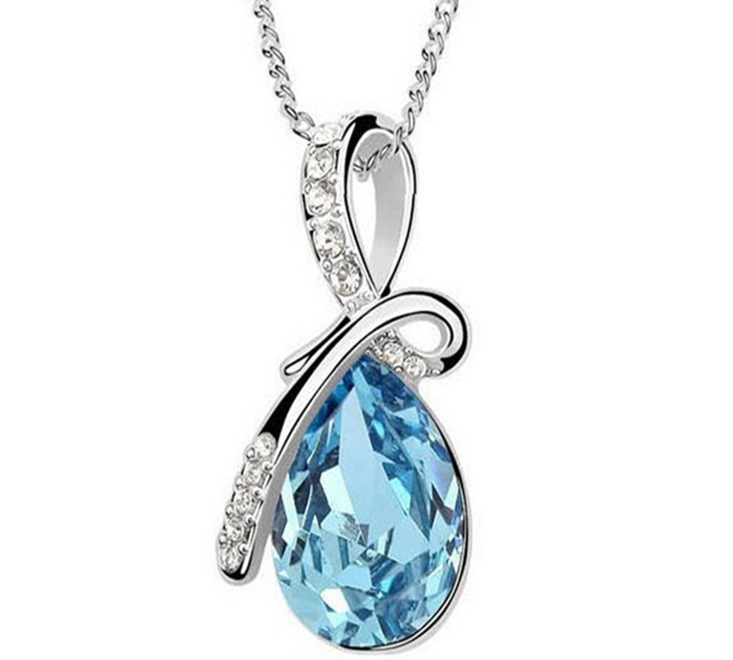 copy heart graduation chain december blue class pendant pendants light cz birthstone of necklace sterling silver