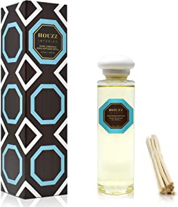 HOUZZ Interior Reed Diffuser Refill Oil Egyptian Cotton – Reed Sticks Included – Fresh Laundry & Linen Scent | Clean & Cool Scent |Soft Musks, Powdery Ozone & White Woods – No Sulfates or Parabens