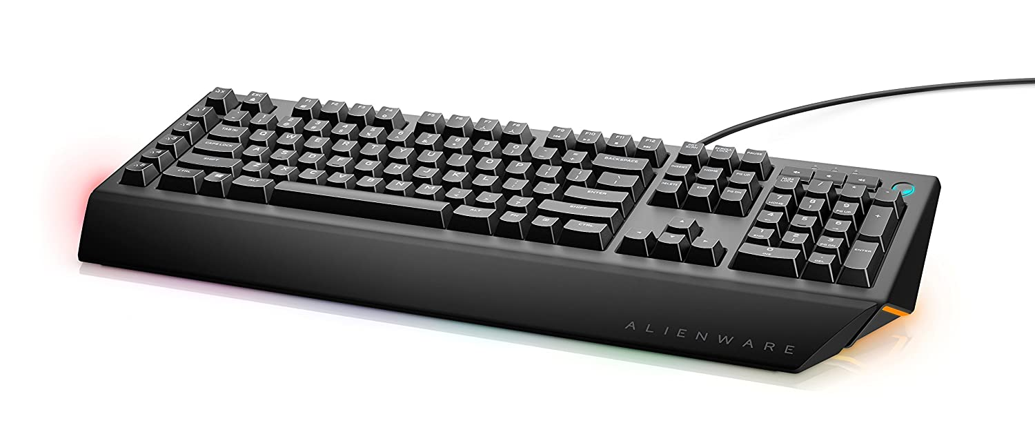 3e666ec22c8 Dell Alienware AW568 Advanced Gaming Keyboard, Customisable AlienFX  Lighting, 3 Adjustable Leg Angles and Dedicated Media Buttons:  Amazon.co.uk: Computers & ...