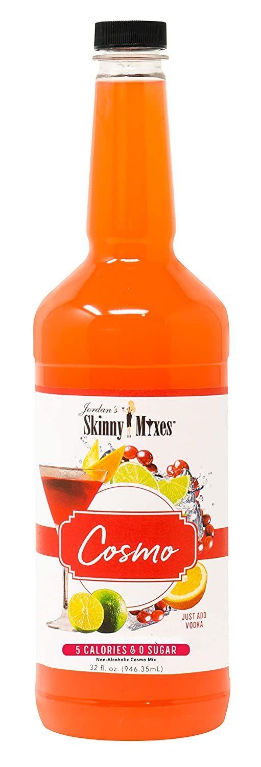 Jordan's Skinny Mixes Skinny Mixes Cocktail Mix -Cosmo | Healthy Flavorswith 0 Sugar | Gluten Free& Kosher | Keto Friendly & GMO Free | 32 fl oz