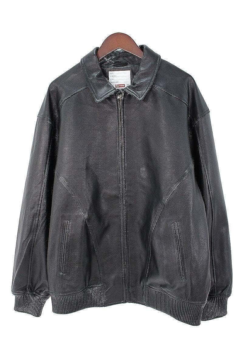 (シュプリーム) SUPREME 【18SS】【Studded Arc Logo Leather Jacket】スタッズアーチロゴレザージャケット(XL/ブラック) 中古 B07D59ZM5N