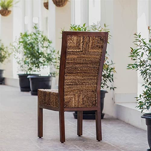 International Caravan Furniture Piece Dallas Abaca Weave Dining Chair