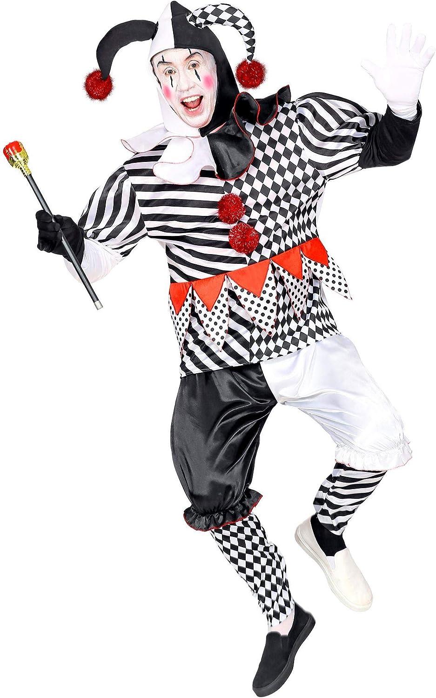 WIDMANN 09503 - Disfraz de arlequín para hombre, color blanco y negro, talla L , color/modelo surtido