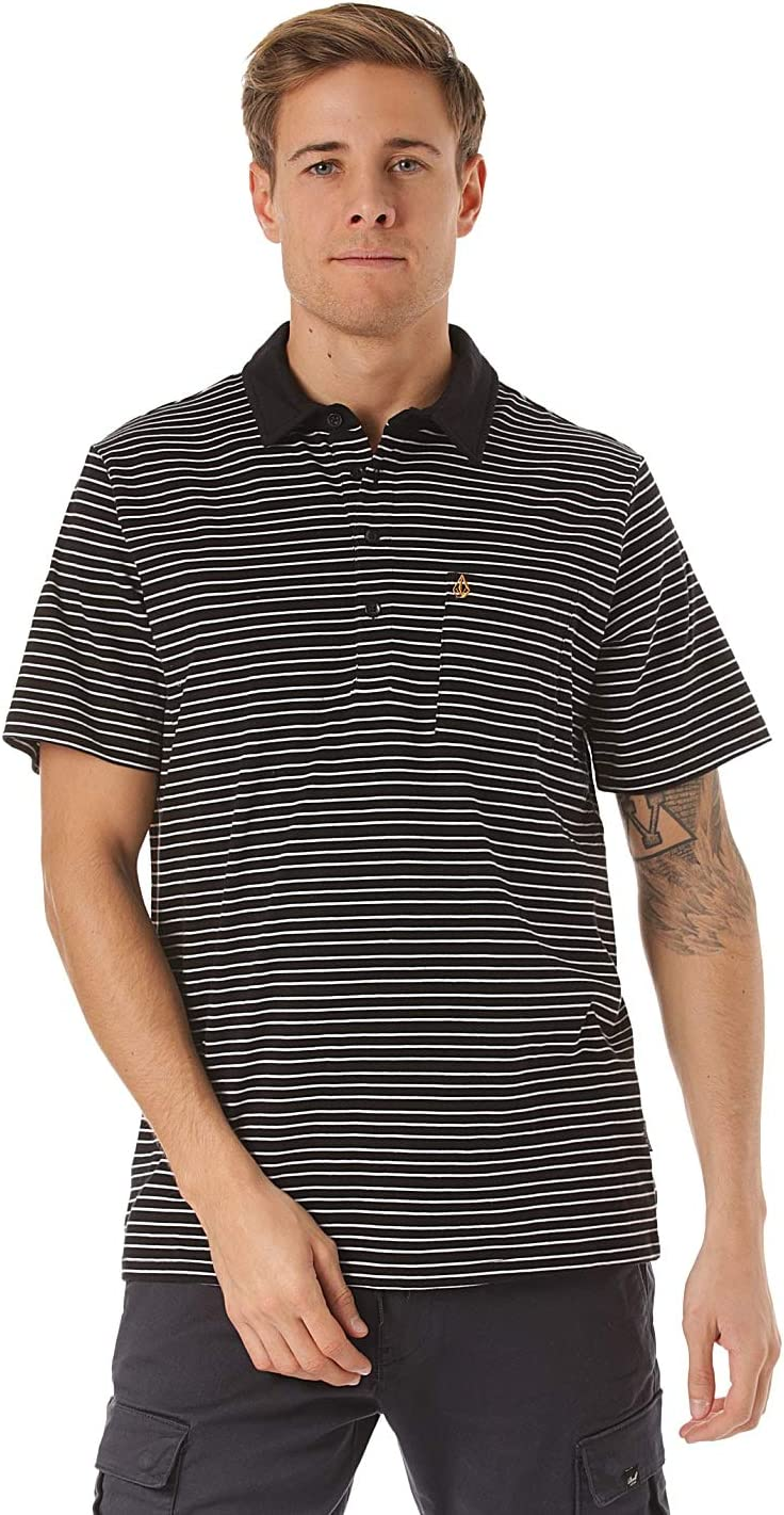 Volcom Smithers Polo Camisa, Hombre, Black, L: Amazon.es: Deportes ...