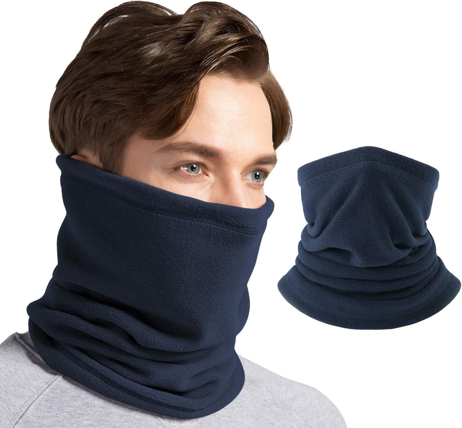 Lady Hommes épais Bonnet Polaire écharpe ensemble hiver Outdoor Neige Ski Cap Cadeau