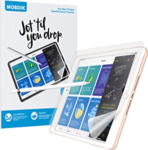 [2 Pack] Paperfeel Screen Protector for iPad 8/7 (10.2-Inch, 2020/2019 Model, 8th / 7th Generation), Apple iPad 8 iPad 7 Write, Draw and Sketch Like on Paperfeel Anti Glare Less Reflection with Easy Installation Kit