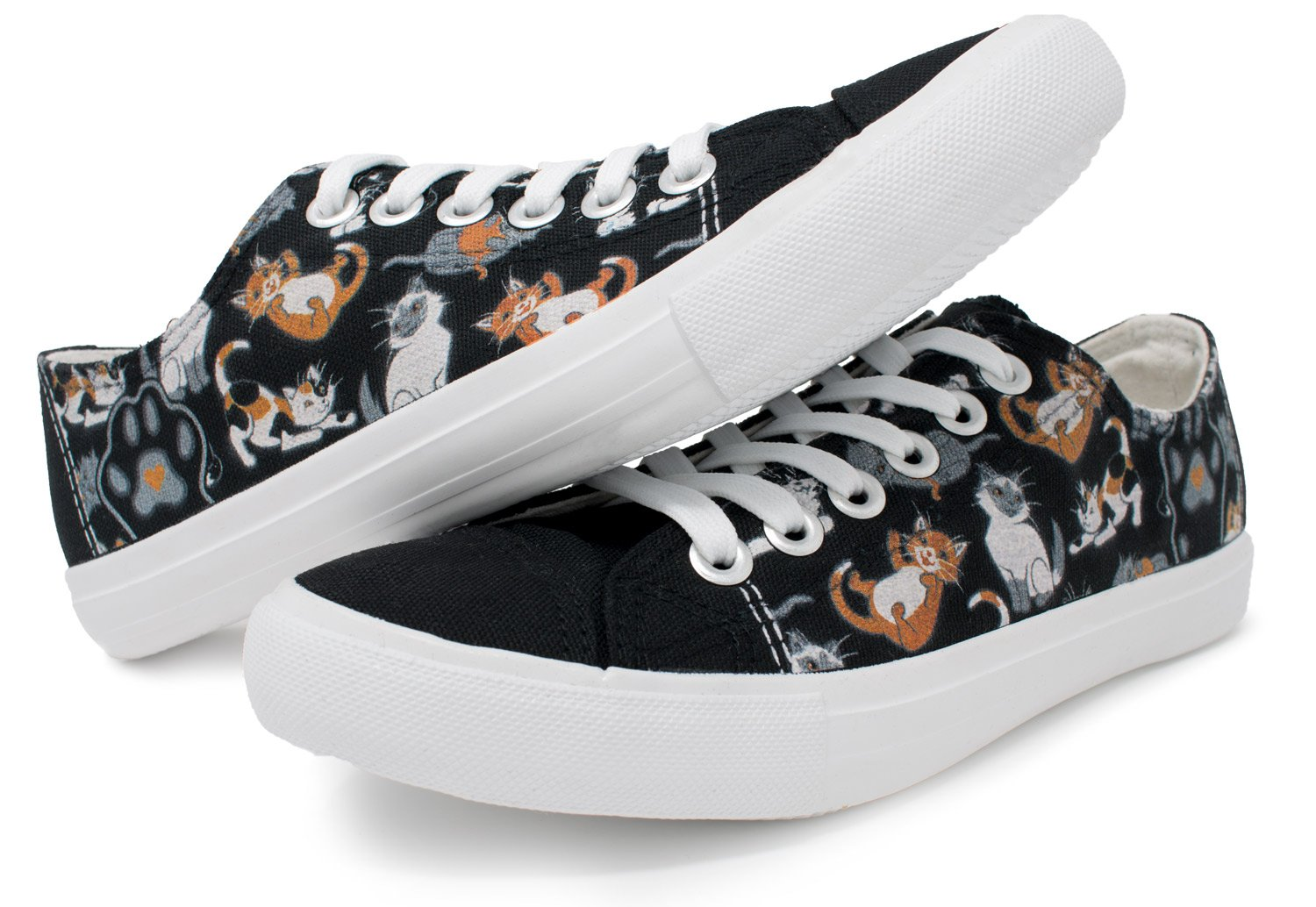 the latest c47d8 ecbbe Kitten Sneakers   Mom Dad Lady Gym Zapato de tenis - Unisex Mujeres Hombres  Negro