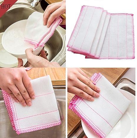 hunpta absorbente paño de lavado para coche cocina toallas de limpieza de paños de microfibra de