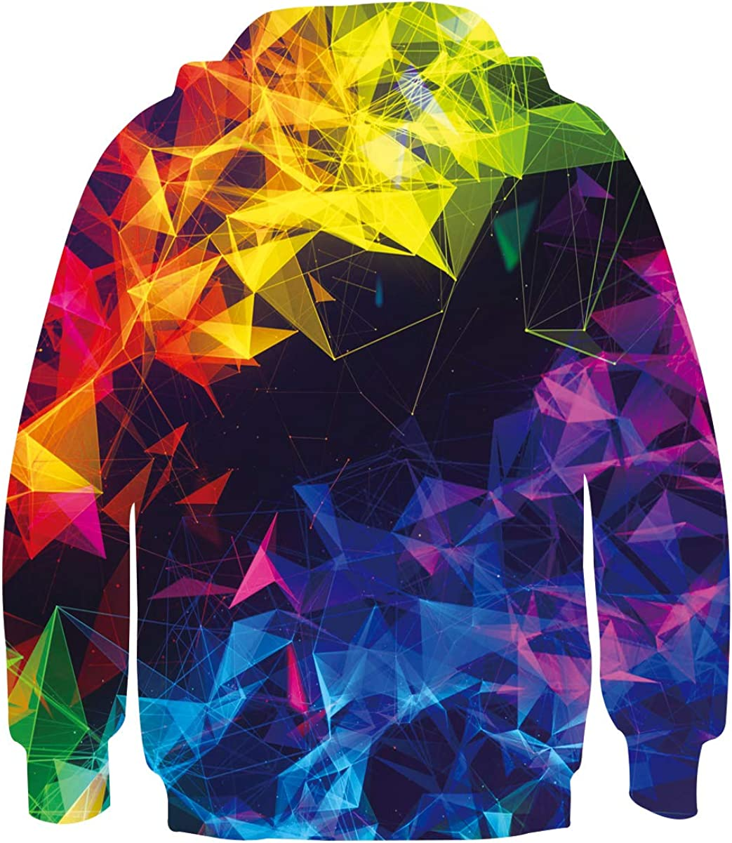 UNICOMIDEA Boys Girls 3D Print Pullover Hoodie Kids Hooded Sweatshirts with Pocket for 6-16T