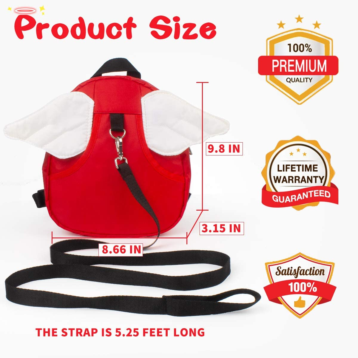 Tap4gifts Child Safety Harness Backpack,Anti-Lost Leash Backpack for Toddlers