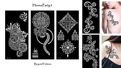 Tattoo Plantilla Plantillas 5 unidades Henna Party 5 para un solo ...