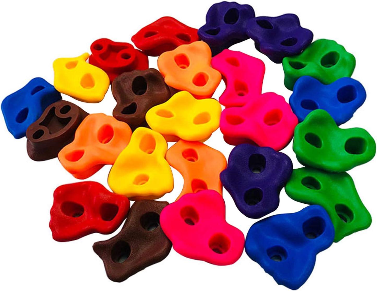 HOMYY Piedras de escalada para niños para exteriores para torre de juegos, paredes de escalada, asas de escalada multicolor, para interiores y ...