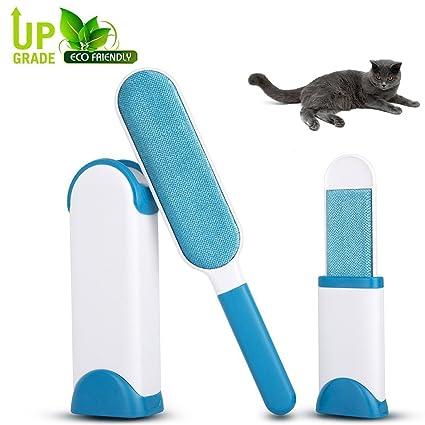 GreeSuit Juego de 3 rodillos quitapelos de pelusa reutilizables perro gato remov