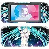 Nintendo Switch Lite 任天堂スイッチ ライト スキンシール 初音ミク 5 本体用&コントローラー用 保護シール ステッカー グッズ 同人